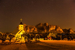 Wild West Church (blue5011b) Tags: longexposure arizona mountain church night stars landscape nikon desert mm stagecoach superstitionmountains 2470 d700
