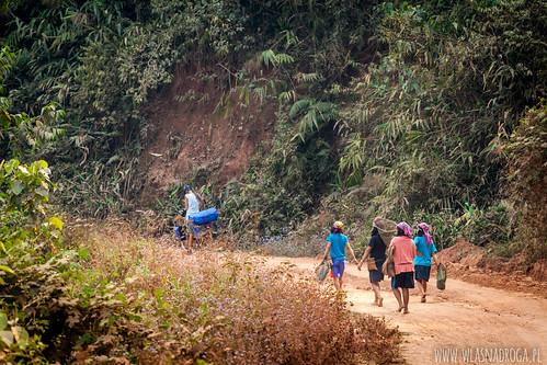 Wiejskie drogi Laosu