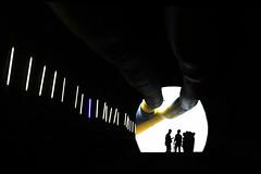 """""""Fuori dal tunnel"""".... (marcoelli1) Tags: silhouette foto tunnel di elli marco monte base galleria ferrovia cantiere ceneri camorino alptransit"""