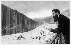 THEODOR HERZL IN FRONT OF WEST BANK WALL.THE NEW IMPASSE (EFFER LECEBE) Tags: china africa portrait italy usa canada news france history sex japan wall canon germany landscape soldier army photography israel nikon europe iran belgium russia body swiss palestine westbank religion egypt middleeast exhibition arab cameron violence jewish riots obama israeli journalist putin visage irak palestinian hollande duma fanatism mahmoudabbas theodorherzl benjaminnetanyahu sionism alisaaddaobasa merkhel jewisharsonists alisaaddawabsheh