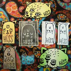 Pack from Hiss - 08/03/2015 (Mr. MumbleJinx) Tags: streetart art stickerart stickers hiss