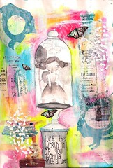 let in (artwolf2009) Tags: collage painting sketching whimsical sizzix artjournalmixedmediastamps