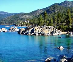 Sand Harbor Morning, Lake Tahoe, NV 9-10 (inkknife_2000 (7.5 million views +)) Tags: laketahoe nevada sandharbor dgrahamphoto lakeshoreline mountainlake rocksinwater forest alpinelake usa landscape waterscape