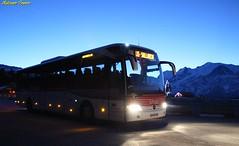 Voyages S.A.T, Pays du Mont-Blanc (Autocars France) Tags: mercedes mercedesbenz tourismo o350 rhd m2 daimler evobus montblanc night nuit lihsa hautesavoie euro5 voyages transports voyageurs voyagessat sat