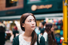 on the street (Randy Wei) Tags: girl young pretty beautiful lady asian ttaiwan taipei ximen ximending people portrait daylight outdoors street bokeh calm fujifilm xt10 mitakon speedmaster zhongyi