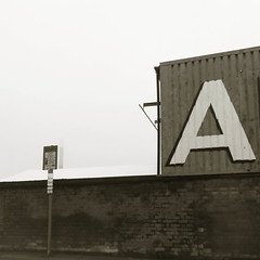 A and Chimney (dam design) Tags: nottingham albany removals letter a