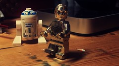 Oh, damn. (LordAllo) Tags: lego c3po chrome gold rare star wars