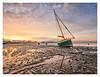 Beached. (Emily_Endean_Photography) Tags: poole harbour sandbanks beach dorset nikon sunset boat