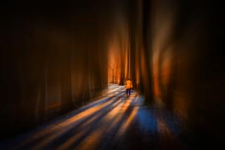 walk in a tunnel