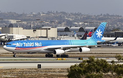 Air Tahiti Nui A340-300 F-OLOV (birrlad) Tags: losangeles lax international airport california usa aircraft aviation airplane airplanes airline airliner airlines airways taxi taxiway arrival arriving landing landed runway stand gate terminal airtahitinui airbus a340 a343 a340300 a340313 tahitiairlines folov tn102 faaā frenchpolynesia