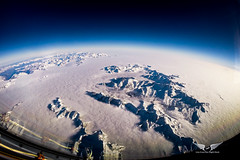The Alps from 41,000 ft (gc232) Tags: gopro fisheye alps 41000ft fl410 feet altitude dark blue sky clouds low level stratus snow mountains airplane view live from flight deck golfcharlie232 fly flying plane aviation avgeek pilotsview