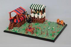 Horseback Archery Tournament (soccersnyderi) Tags: lego creation model moc archery horse landscape tournament contest medieval