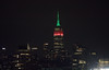The Empire State Building is lit red, black and green in honor of Dr. Martin Luther King Jr. Day. (apardavila) Tags: mlkday empirestatebuilding hoboken manhattan nyc newyorkcity skyline skyscraper