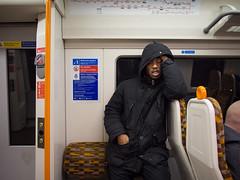 Dalston Snooze (Magic Pea) Tags: streetphotography street unposed candid photo photography magicpea urban transport london underground train man dalston orangeline sleep snooze