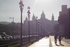 Madrid in the Morning Light (David Helvering) Tags: powershot canon palace backlit vintage purple lensflare lamppost holdinghands morning travel spain madrid