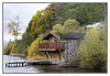 Boat House (Audrey A Jackson) Tags: canon60d lakedistrict coniston autumn lake water boathouse colour nature trees sky clouds chimney smoke jetty balcony roof 1001nightsmagiccity