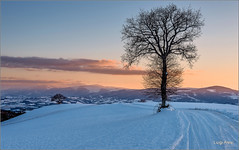 Dopo il tramonto (Luigi Alesi) Tags: sanseverino italia italy marche macerata san severino gaglianveccho paesaggio landscape scenenry inverno invernale winter winterly neve snow dopo il tramonto after sunset collina hill natura nature nikon d750 raw