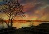 Sunset Picnic (floralgal) Tags: sunset edithreadsanctuary ryenewyork westchestercountynewyork ryeplayland picnictablesatsunset beach lake longislandsound