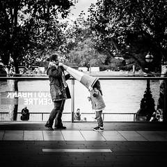 Her mistress's voice (Frank Busch) Tags: frankbusch frankbuschphotography bw blackwhite greatbritain london street streetphotography uk wwwfrankbuschname