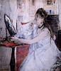 IMG_6284 Berthe Morisot. 1841-1895. Paris.  Jeune femme se poudrant dit aussi Femme à sa toilette. Young woman powdering herself also says Woman at her toilet. 1877    Paris Orsay (jean louis mazieres) Tags: peintres peintures painting musée museum museo france parisorsay berthemorisot