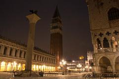 Venice by Night (MatteoCarraro) Tags: venezia venice night snow gondolas gondole light cold flickr facebook instagram veneto italia sea sospiri