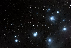 THE PLEIADES - M45 (twinklespinalot) Tags: the pleiades m45 messier astronomy astrophotography dss skywatcher 120ed canon 700d celestron avx astrometrydotnet:id=nova1909937 astrometrydotnet:status=solved