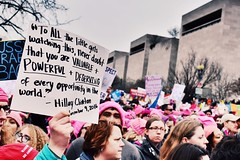 WMW (Emily Handy) Tags: currentevents womensmarchonwashington wmw crowd crowds marchers rally march politics quote hillaryclinton poster sign protests protest