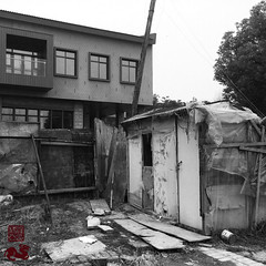 #UrbanContrastsB&W (INSTAGRAM - tania.prosdocimo) Tags: nanjing china urban outside flickrfriday urbancontrast oldnew bw urbancontrasts