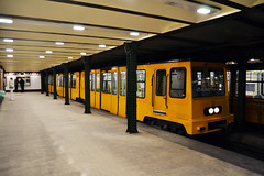 Ganz MFAV - Vörösmarty tér Metro Station (prahatravel) Tags: budapesti metró közlekedési vállalat budapest metro underground system subway public transportation hungary