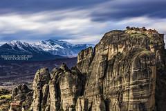 Meteora,Μετέωρα (Aggelos Kastoris) Tags: landscape sky magic colors black yellow outdoor mountain rocks meteora greece snow clouds nikon d7100 sigma 1750 long exposure μετέωρα ελλάδα βουνό ουρανόσ θεσσαλία