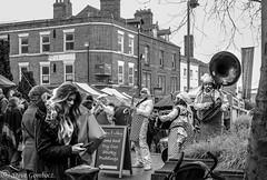 Entertainment at the Wakefield Rhubarb Festival. (steve.gombocz) Tags: urbanstreet blacknwhite greyscale monochrome streetscene blackwhite bwphotos bwstreetscenes bw bwstreet flickrbw bwflickr blackwhitephotos blackwhitephotography flickrstreet blackwhitestreet bwstreetphotography streetlife street blackandwhite streetscenes streetphotographs bwphotographs streetphotography bwphotography streetbw noiretblanc schwarzundweiss negroyblanco zwartwit neroebianco sortoghvid mustavalkoinen svarthvitt svartoghvitt svartochvitt czarnyibiaty pretoebranco noirblanc schwarzweiss negroblanco nerobianco pretobranco market marche markt olympus olympususers olympuscamerausers olympusbw olympusmzuiko25mmf18lens olympusem5mark2 olympusm25mmf18 photosinblackandwhite flickrblackandwhitephotos olympuseurope olympusdigitalcamerausers micro43rdsuk olympusstreet bwpictures streetmusic skiband streetentertainment wakefieldbw streetphotos flickraddicts wakefieldmonochrome explorebw explorestreet explore flickr out wakefieldpictures wakefieldphotographs wakefieldmarket