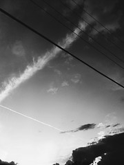 Intersecting Skies (raf_h) Tags: sky blackandwhite bw cloud art cloudy abstractart fineart cable 365 conceptualart 365challenge 277365