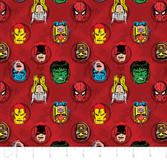 """(Camelot Cottons) Marvel Comic II, Characters In Red • <a style=""""font-size:0.8em;"""" href=""""http://www.flickr.com/photos/132535894@N06/18739815206/"""" target=""""_blank"""">View on Flickr</a>"""