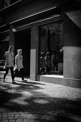 Diffrent kind of shoes (nelsonbraillard_photo) Tags: life street girls blackandwhite lines mirror twins fuji walk lausanne reflect same fujifilm parralleles x100t