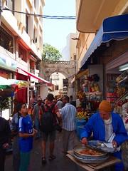 P6012080 (lnewman333) Tags: africa people man ancient market northafrica historic morocco maroc maghreb medina vendor streetfood tangier tanger tingis