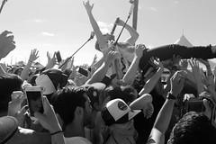 Switchfoot at the Switchfoot Bro-Am (nicolemonsees) Tags: ocean california blackandwhite music beach concert jon live band switchfoot crowdsurfing foreman broam