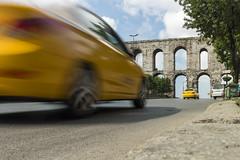 Aqueduct of Valens - Istanbul (Piotr Kowalski) Tags: old bridge brick monument stone architecture ancient arch roman taxi istanbul most ottoman constantinople archbridge valensaqueduct zabytki akwedukt łuk greyfalcon stambuł ataturkbulvari akweduktwalensa