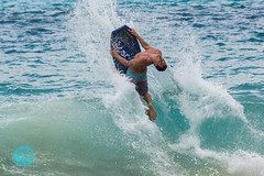 Big Beach Surf Action - Maui, Hawaii (brandon.vincent) Tags: ocean hawaii fly surf ride pacific air wave maui spray gnarly splash boogieboard bodyboard skimboard bigbeach
