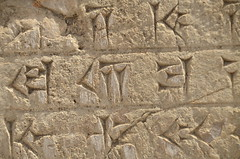 Cuneiform script at the remains of Persepolis (Iran) (Rui Type Abreu) Tags: cuneiform