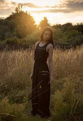 Uno (Jason Arber) Tags: sunset portrait woman sun sexy beauty grass fashion female outside outdoors japanese foxy warm uno rina minaz