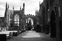 The ruins of  St Michael's Cathedral (hobbitbrain) Tags: church cathedral coventry stmichaels blitz luftwaffe
