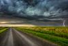 Stormy Road (Ian McGregor Photography) Tags: canada cloud ianmcgregor nikon photography prairie regina saskatchewan ianmcgregorphotographycom lightening storm weather
