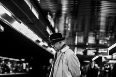 Beau Quai (::Lens a Lot::) Tags: nippon kogaku japan nikkors 55mm f12 1969 | 7 blades iris nikon paris 2016 black white streetphotography street photography bw portrait candid metro subway gate station wide open bokeh depth field fixed length vitage prime manual classic japanese primme lens