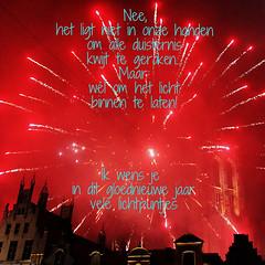nieuwjaarswens 2017 (mechelenblogt_jan) Tags: mechelen grotemarkt vuurwerk nieuwjaar