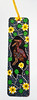 Australian bookmark 1 (tengds) Tags: bookmark australianbookmark australia aboriginalart magpiegeese lilies black green yellow brown tengds