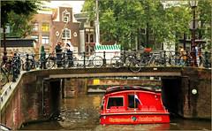 """CitySightseeing"" Brouwersgracht, Amsterdam, Nederland (claude lina) Tags: claudelina nederland netherlands paysbas hollande ville city town amsterdam pont bridge canal gracht vélos bikes bicycles brouwersgracht"