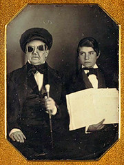 Blind Man & Guide (~ Lone Wadi Archives ~) Tags: ambrotype portrait retro 1850s 19thcentury victorian disabled handicap blind mysterious unknown