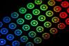 Colorful bullets (adamopal) Tags: canon canon7d canon7dmkii bullets ammo funky adaptalux adaptaluxlighting longexposure longexposureexperiment experiment macro macro180mm 180mm multicolor black red green blue