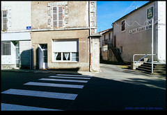161022-1093-XM1.jpg (hopeless128) Tags: france sky eurotrip 2016 zebracrossing building champagnemouton nouvelleaquitaine fr