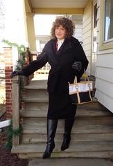One Step At A Time (Laurette Victoria) Tags: porch boots coat gloves winter milwaukee curly brunette laurette purse woman